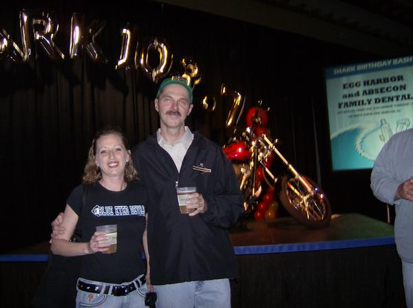 Chris and Melissa Arlan. Chris Arlan is a co-founder of ACS and virulent racist. He works in the trades and lives at the NJ Shore.