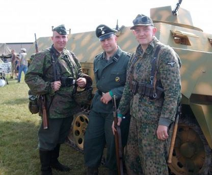 Ian Hans Lichterman (left) with 2 fellow Nazi reenactors enthusiasts. Lichterman is a current or former member of the WP network Blood and Honour and an active Philly PD Officer