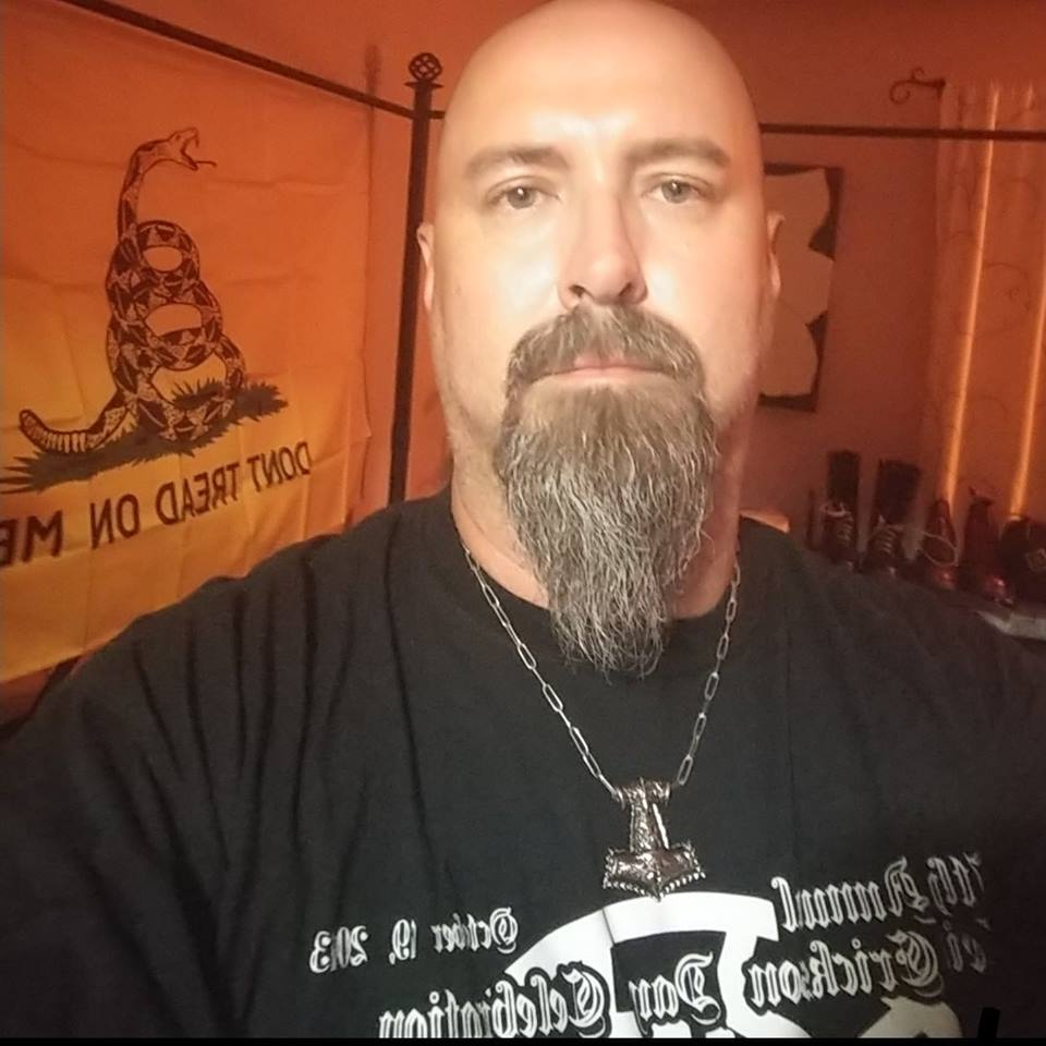 Aaron Klinger Neo Nazi And Keystone State Skinheads Probate Member Is Wearing A Shirt For KSS 2013 Leif Erikson Day Event In Philly